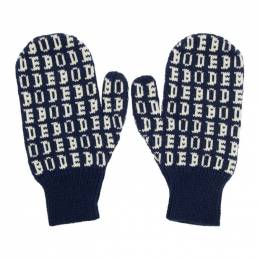Navy Signature Mittens Bode 192169M13502401GB