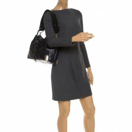 Chloe Black Quilted Leather Charlie Bucket Bag 239989