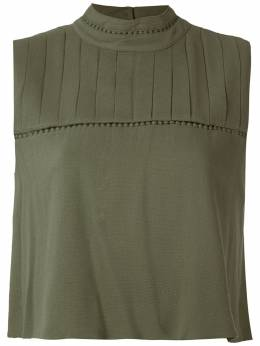 Olympiah Hagia high neck cropped top 219090