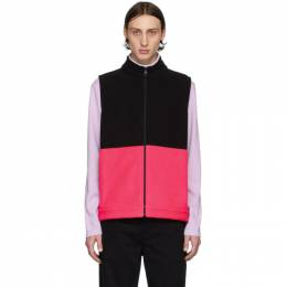 Harris Wharf London Black and Pink Polaire Vest C9330MHP-Z
