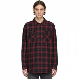 Nudie Jeans Black and Red Gabriel Shadow Check Shirt 140626