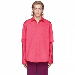 Balenciaga Pink Double Sleeve Shirt 192342M19204008GB