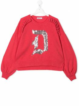 TEEN sequin-patch sweater Dondup Kids YM263MY0010GZ47