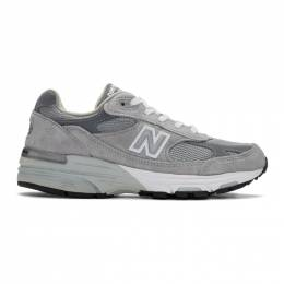 New Balance Grey 993 Sneakers 201402M23705305GB