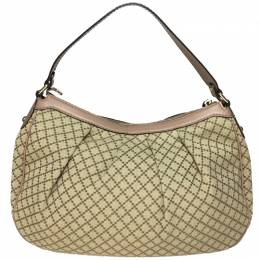 Gucci Beige/Pink GG Canvas Sukey Hobo 246056