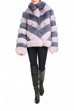 short fur coat MANAKAS 1601_LAPIS_LILAC