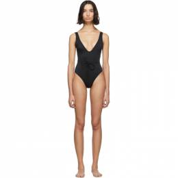 Black The Michelle One-Piece Swimsuit Solid and Striped WS-1930-1014