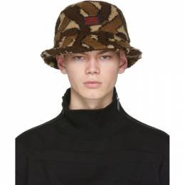 Burberry	 Brown Fleece Monogram Bucket Hat 8023810