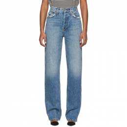 Re/done Blue High-Rise Loose Jeans 188-3WHRL