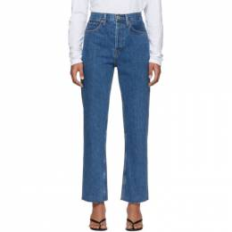 Re/done Blue High-Rise Stove Pipe Jeans 188-3WSTV27
