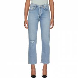 Re/done Blue Comfort Stretch High Rise Stove Pipe Jeans 190-3WSTV27