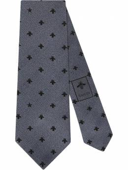 Gucci Silk tie with bees and stars 4565264E002