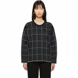 3.1 Phillip Lim Black Cropped Jersey Roll Pullover E201-7183RPW
