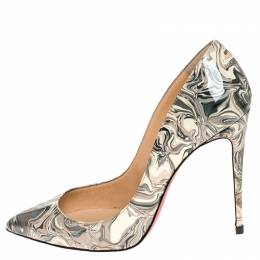 Christian Louboutin Multicolor Printed Patent Leather Pointed Toe So Kate Pumps Size 39 246003
