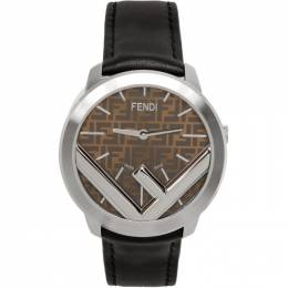 Fendi Silver and Black F is Fendi Run Away Watch 201693M16535901GB
