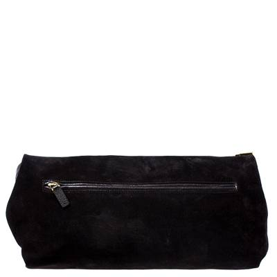 Tom Ford Dark Brown Nubuck Leather Natalia Convertible Clutch - 3