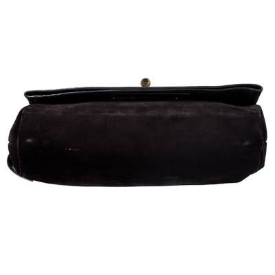 Tom Ford Dark Brown Nubuck Leather Natalia Convertible Clutch - 5