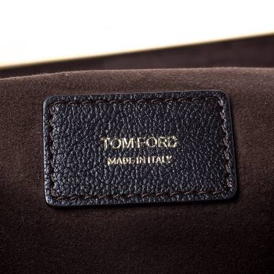 Tom Ford Dark Brown Nubuck Leather Natalia Convertible Clutch - 7