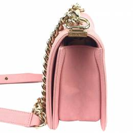 Pink Quilted Caviar Leather Medium Boy Flap Bag Chanel 247899