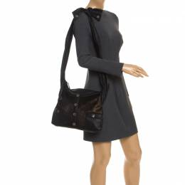 Black/Gold Leather and Calfhair Girl Bag Chanel 246178