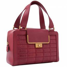 Jimmy Choo Red Leather Top Handle Bag 244883