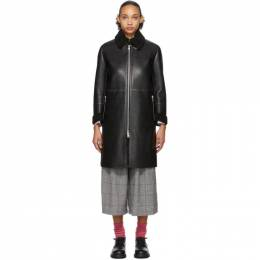 Black Synthetic Leather Coat Tricot Comme des Garcons 192793F05901001GB