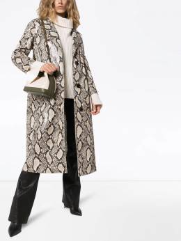 Mollie snakeprint faux leather coat STAND STUDIO 6085286841033BEIGESNAKE
