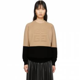 Givenchy Beige and Black 4G Sweater 201278F09603403GB