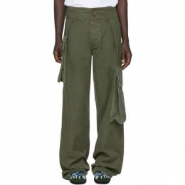 Loewe Khaki William De Morgan Canvas Cargo Pants H2102080IB