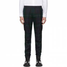 Paul Smith Black and Green Blackwatch Cargo Pants M1R-923T-A01006