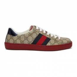 Gucci Beige GG Supreme New Ace Sneakers 201451M23700514GB