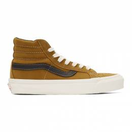 Vans Brown Nubuck OG Sk8-Hi LX Sneakers 201739M23602101GB