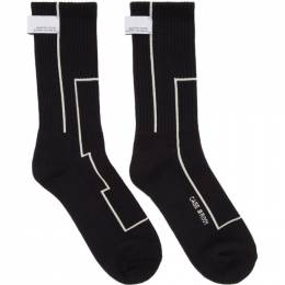 Black STAI Linellae Label Socks C2H4 R001-D018