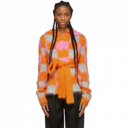 Kenzo Multicolor Mohair Intarsia Buttoned Jacket 192387F06300604GB