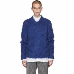 MARNI Blue Mohair Brushed Finish Sweater 201379M20600303GB