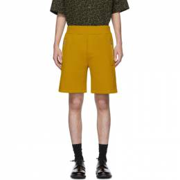MARNI Yellow Sweat Shorts 201379M19300704GB