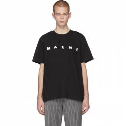MARNI Black Front Logo T-Shirt 201379M21302006GB