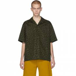 MARNI Green and Black Camo Cells Shirt 201379M19201203GB