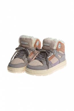Кроссовки на меху Shepherd's Life HIGH SNEAKERS WITH FUR_MULTY COLOR SUEDE