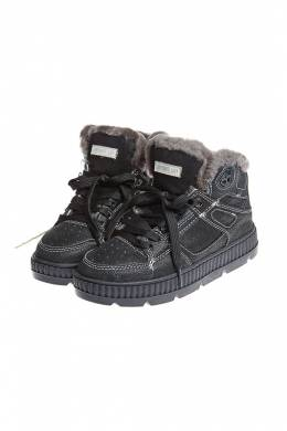 Кроссовки на меху Shepherd's Life HIGH SNEAKERS WITH FUR_BLACK