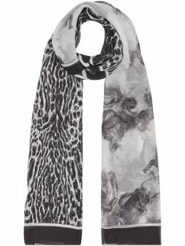 Burberry	 angel and leopard print scarf 8025569