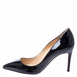 Christian Louboutin Black Patent Leather So Kate Pointed Toe Pumps Size 38.5 249863