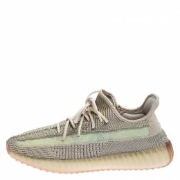 Yeezy x Adidas Mint Green/Cream Cotton Knit Boost 350 V2 Sneakers Size 45.5 249534