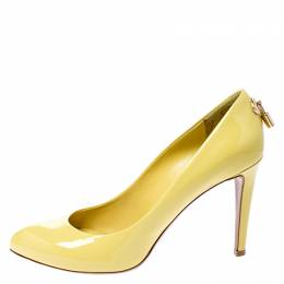 Louis Vuitton Yellow Patent Leather Oh Really! Pumps Size 39.5 249645