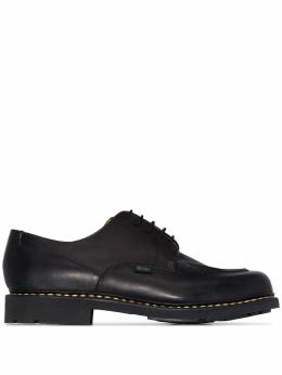 Paraboot Black Chambord leather derby shoes 710709