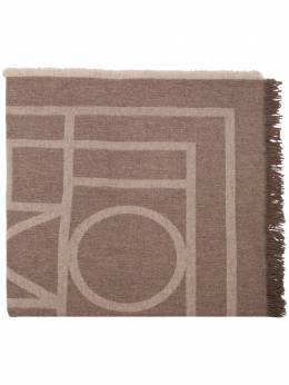 brown Como monogram knit scarf Toteme COMO193854802