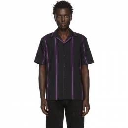 Saturdays Nyc Black Canty Stripe Shirt M12030CT01