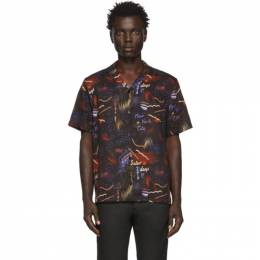 Saturdays Nyc Black Midnight Paradise Shirt M12030CT03
