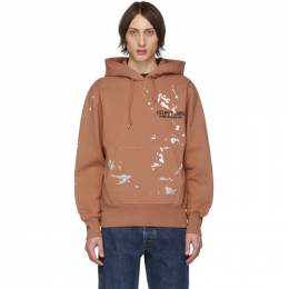 Helmut Lang Orange Painter Standard Hoodie J10DM513