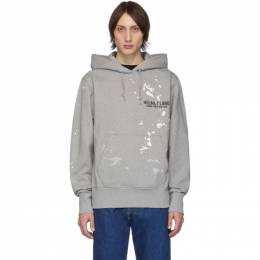 Helmut Lang Grey Painter Standard Hoodie J10DM513